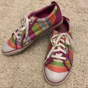 Coach Barrett Striped Shoes Sneakers Loafers 9